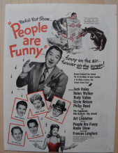People are Funny (1946) - Jack Haley | Vintage Trade Ad